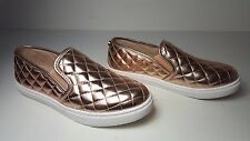 $79 size 7 Steve Madden Ecentrccq Rose Gold Slip On Sneakers Womens Shoes