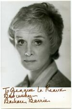 """Barbara Barrie Signed 4 x 6"""" Photo Actress Autographed Barney Miller"""