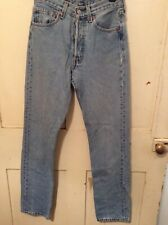 Womens vintage levi 501 jeans W25 L30 pale blue great condition 90s high rise