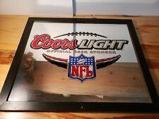 "Coors Light - Official Beer Sponsor Glass Mirror Nfl 27 1/2"" W X 23 1/2"" H"
