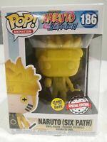 Naruto Six Path Yellow Glow GITD Funko Pop Vinyl New in Box + Protector