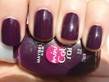 GEMEY MAYBELLINE Vernis à Ongles COLORAMA 52 DARK PLUM PRUNE NEUF BLISTER