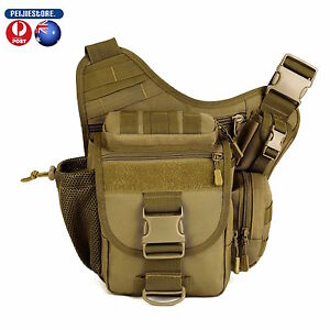 Protector Tactical Military Shoulder SLR Camera Outdoor Bag hiking camping