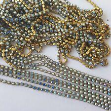 24ft Aurora Borealis 2mm Swarovski Crystal chain - ideal cat dog pet collars