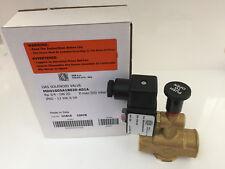 "elettrovalvola 12v cc 3/4"" gas metano gpl riarmo manuale normalmente aperta"