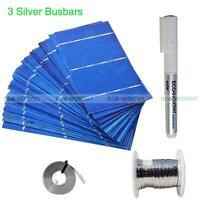 DIY 80W Solar Panel- 40pcs 3x6 Solar Cell DIY Kit W/ Tab Bus Wire Flux Pen