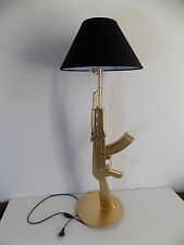 LAMPE DESIGN AK47 OR (chevet bureau table gun KALASH kalashnikov deco lamp Light