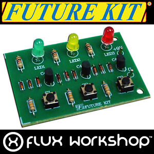 Future Kit 3 LED Priority Trigger DIY Kit Löten Spiel Show Flux Workshop
