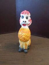 "Vintage Carnival Prize - Chalkware Dog - Poodle Figurine - 8 1/2"" tall"