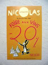 DUPUY BERBERIAN NICOLAS PUB FOIRE AUX VINS 1999 NEUF