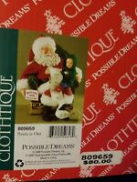 Possible Dreams New 2015 GONNA FIND OUT Clothtique Santa With List 4046518 BNIB