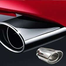 Universal Stainless Steel Chrome Car Truck Tail Throat Pipe Exhaust Muffler Pipe
