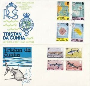 GG4649 Tristan Da Cunha 12 different First Day Covers May 1968 - Nov 1982