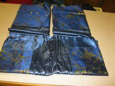 "2 Chinese Silk Satin Pillow Sham 29"" X 18 1/2"" - 2 SMALL SHAMS 19"" X 19"""