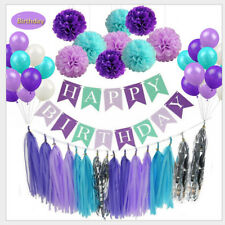 Purple Birthday Party Decoration Set for Birthday baby shower Party Supplies