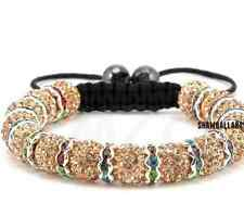4pcs/lot 10mm pave disco men women beige spacer Beads Crystal Shamballa Bracelet