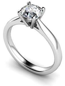 Platinum Ring Diamond Solitaire Fully UK Hallmarked Engagement Ring