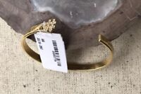 Kate Spade New York Gold Tone Bracelet Party of 2 Open Rhinestone Hashtag # NWT