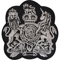 Coat of Arms Patch Embroidered Badge Royal Crest King Fancy Dress Iron Sew On