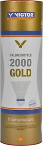 *NEW* VICTOR Nylon Shuttlecocks 2000 'Gold' - Yellow or White - Medium Speed