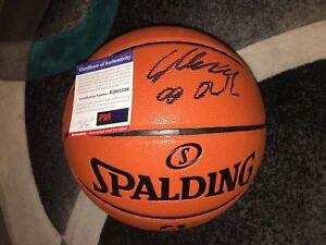 Lauri Markkanen Signed NBA Replica Basketball Chicago Bulls Star PSA/DNA