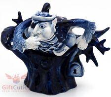 Porcelain Gzhel Figurine Russian Fairy Tale Nightingale the Robber