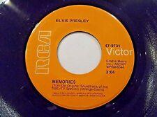 Elvis Presley Memories / Charro 45 1969 RCA Vinyl Record