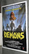 DEMONS original rare 1985 movie poster LAMBERTO BAVA/DARIO ARGENTO