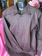 mens long sleeve shirt by colorado colour brown size45cm neck preowned