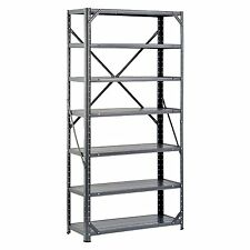 Edsal Mfg HC30127 Shelving Unit, 7-Shelf, 12 x 30 x 60-In. Stockpile Storage