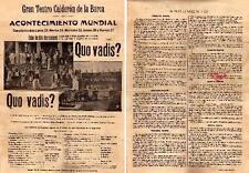 QUO VADIS ?, Silent  Spanish version ,1913, Spanish Herald,Amleto Novelli
