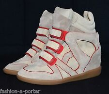 ISABEL MARANT WILA OVER BASKET RED TRAINERS SNEAKERS EU 40 UK 7 US 10 BNWT