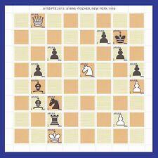 Aruba   2011 schaken/chess  Byrne/Fisher new york1956  velletje  postfris
