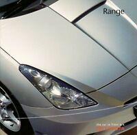Toyota 2002-03 UK Brochure MR2 Celica Corolla Yaris Avensis RAV4 Land Cruiser