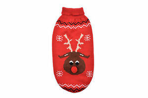 Small Bite Christmas Reindeer Sweater Red Extra Extra Small