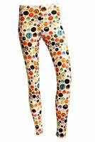 Women's Vintage Retro Multi Buttons Retro Fashion Leggings Size 8-22