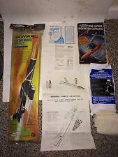 """Vintage 1978-1980 Mint in Bag Factory Sealed 23"""" Bomarc Estes Model Rocket Kit"""
