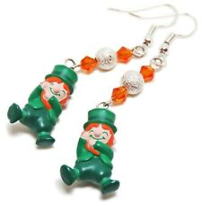 Adorable Silver Plated St Patrick Leprechaun Earrings By SoniaMcD