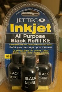Jet Tec Inkjet All Purpose Black Refill Kit Epson HP Canon Lexmark Brother Xerox