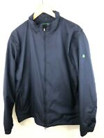 Brooks Brothers St Andrews Links Full Zip Jacket Mens Large Navy Blue Wind Rain