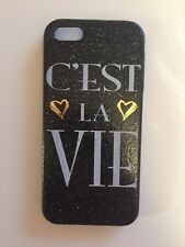 Iphone 5/5S/5C/Se case/cover|Black|Hard|Snap On|Girly|Matte|Sparkly|