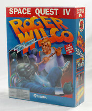 "Big Box PC Sealed - Sierra Space Quest 4 IV SQ4 5.25"" MINT CELLO 1991 RARE"