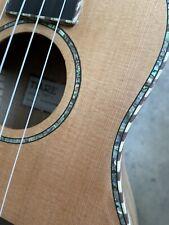 More details for concert size acoustic ukulele rrp £159 solid cedar top abalone inlays gig bag