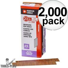 """Box of 2,000 1/2"""" 23 Gauge Pin Nails Porter-Cable Ppn23050 New"""