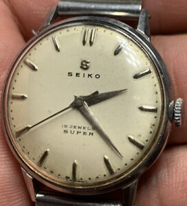 Seiko Super 15J Manual Winding Vintage Watch 30.8mm S13024