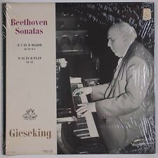 BEETHOVEN: Piano Sonatas GIESEKING Angel USA Shrink Vinyl lp NEAR MINT Mono