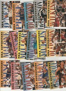 90's INSERTS LOT (16/20) 1993-94 FLEER NBA SUPERSTARS SHAQ  ZO HAKEEM BARKLEY