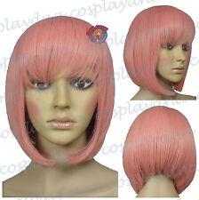 12 inch Hi_Temp Series Milkshake Pink A-Line Bob Short Cosplay DNA Wigs 91KPN