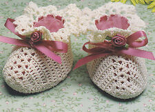 Crochet Pattern ~ BABY BOOTIES OR BOOTIE PINCUSHION ~ Instructions