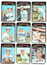 MONTREAL EXPOS 1969 to 1979 Topps Baseball 22 cards lot CARTER MAUCH RENKO FOLI